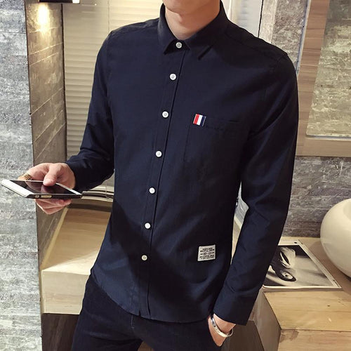The Oxford Shirt - S / Black-  -HIS.BOUTIQUE