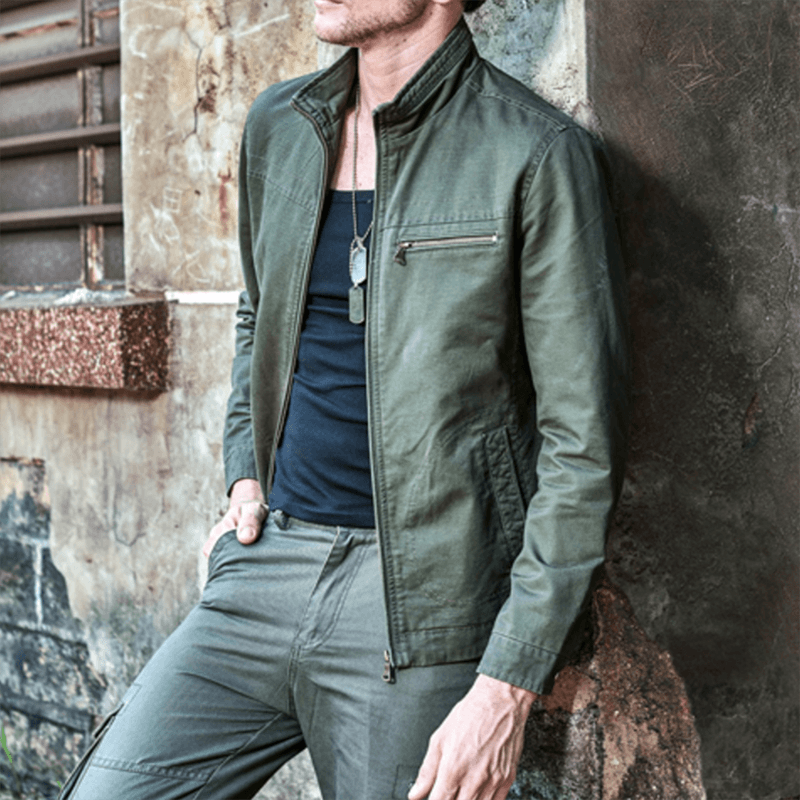 The Military Agent Jacket - S / Army Green - HIS.BOUTIQUE