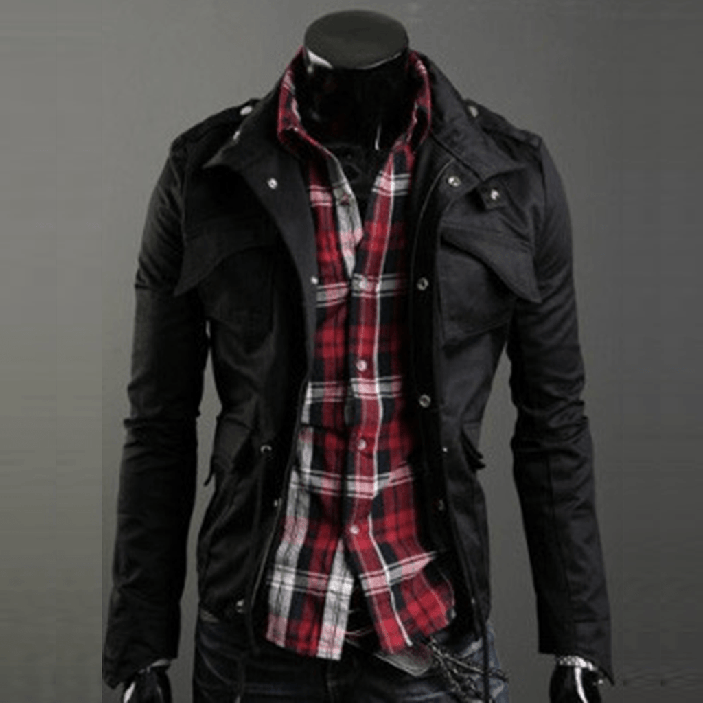 Military Style Jacket - Black