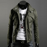 Military Style Jacket - Army Green