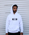 Mens White Hoodie -  - HIS.BOUTIQUE