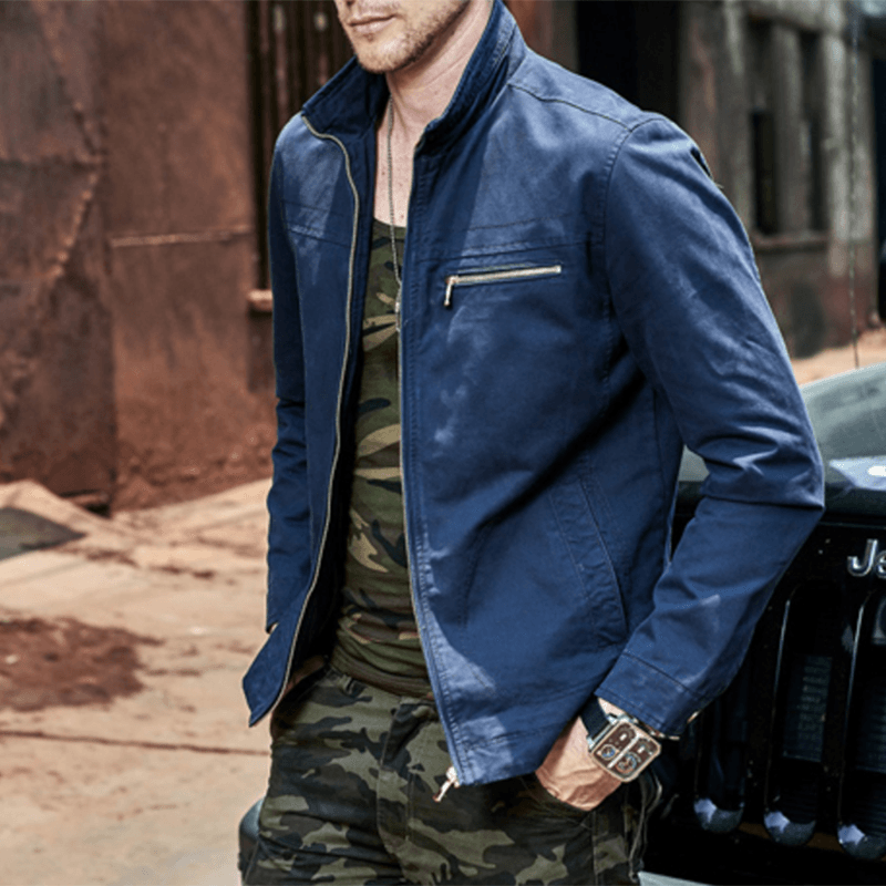 The Military Agent Jacket - S / Blue- Jacket -HIS.BOUTIQUE