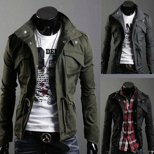 Military Style Jacket -  - HIS.BOUTIQUE