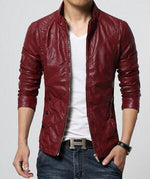 Endurance Suede Jackets - Red / S - HIS.BOUTIQUE