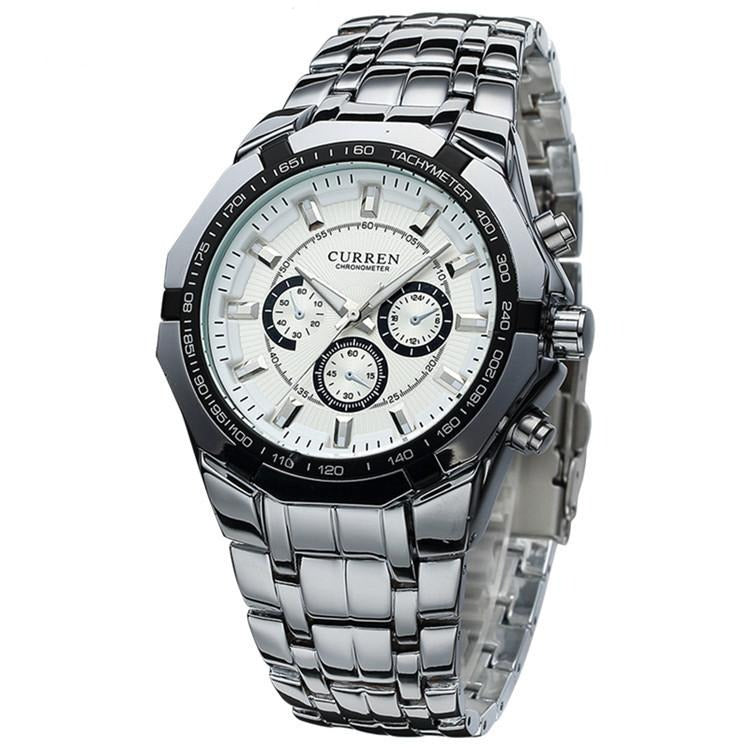 Curren Steel Watch - silver white - HIS.BOUTIQUE
