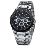 Curren Steel Watch - silver black - HIS.BOUTIQUE
