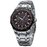 Curren Steel Watch - silver brown - HIS.BOUTIQUE
