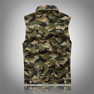 Camo Military Vest -  - HIS.BOUTIQUE