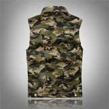 Camo Military Vest - - Vest -HIS.BOUTIQUE