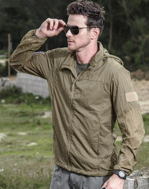 Spliced Autumn Jacket - Khaki / XS - HIS.BOUTIQUE