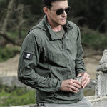 Spliced Autumn Jacket - Green / XS - HIS.BOUTIQUE