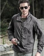 Spliced Autumn Jacket - Gray / XS - HIS.BOUTIQUE