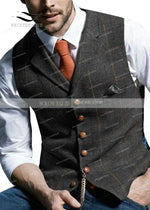 Men's Suit Vest - Black / 3XL - HIS.BOUTIQUE