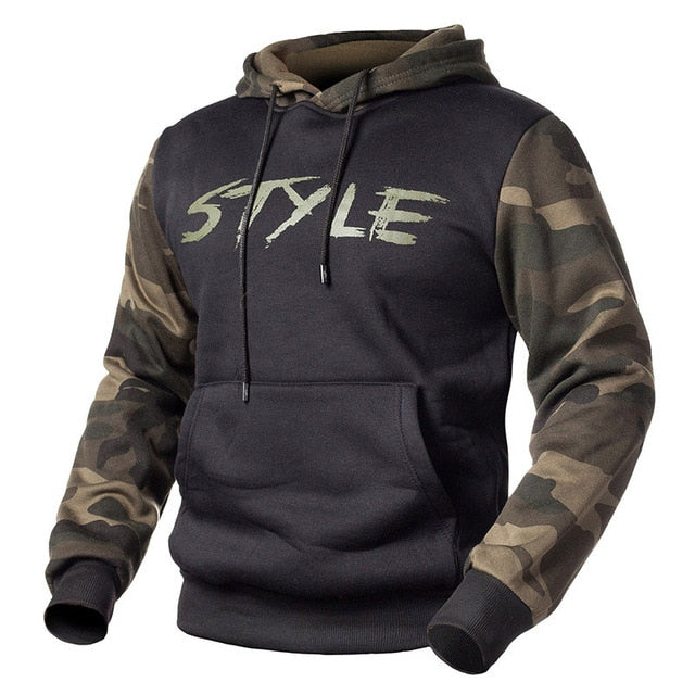 Camouflage Hoodie - Black / S - HIS.BOUTIQUE