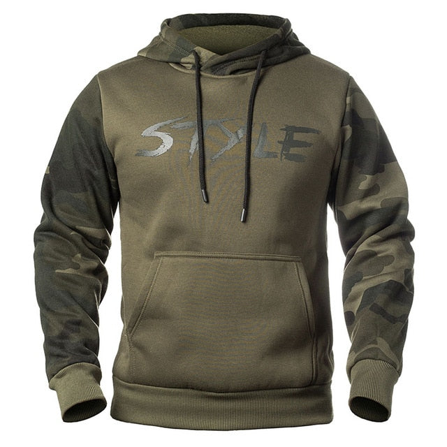 Camouflage Hoodie - Army Green / M - HIS.BOUTIQUE