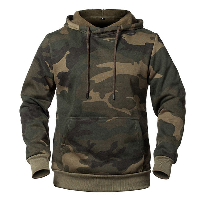 Camouflage Hoodie - Green / M - HIS.BOUTIQUE