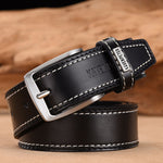 Classic Belt Alloy Pin Buckle - Black / 110cm 36to39 Inch - HIS.BOUTIQUE