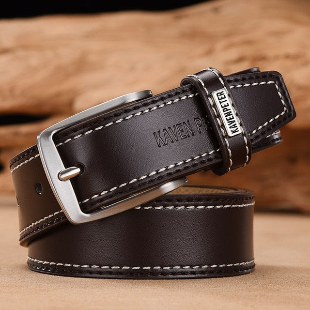 Classic Belt Alloy Pin Buckle - Dark Brown / 110cm 36to39 Inch - HIS.BOUTIQUE
