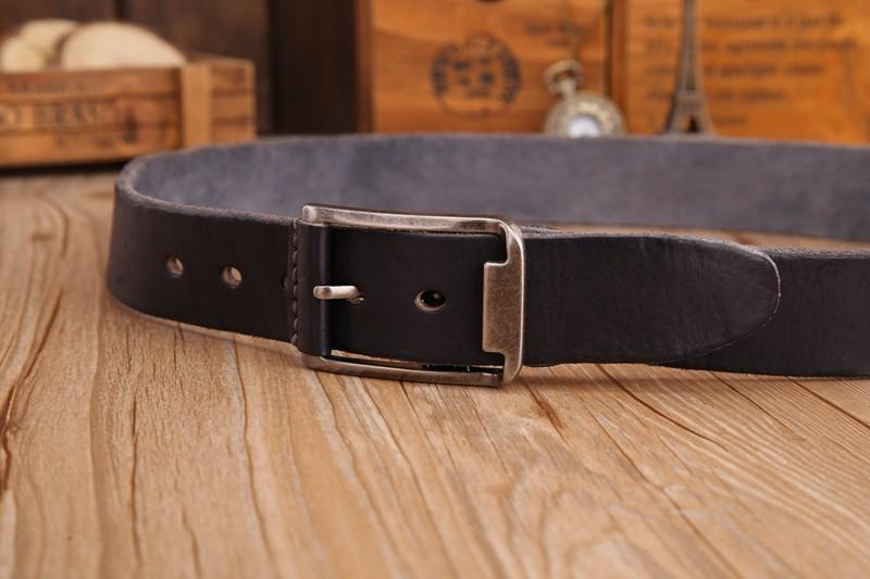 Leather Strap Solid Belt -  - HIS.BOUTIQUE