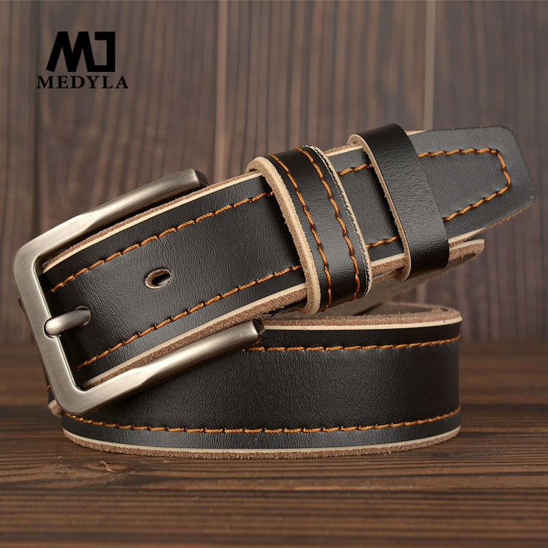 MEDYLA Leather Pin Buckle Belt -  - HIS.BOUTIQUE