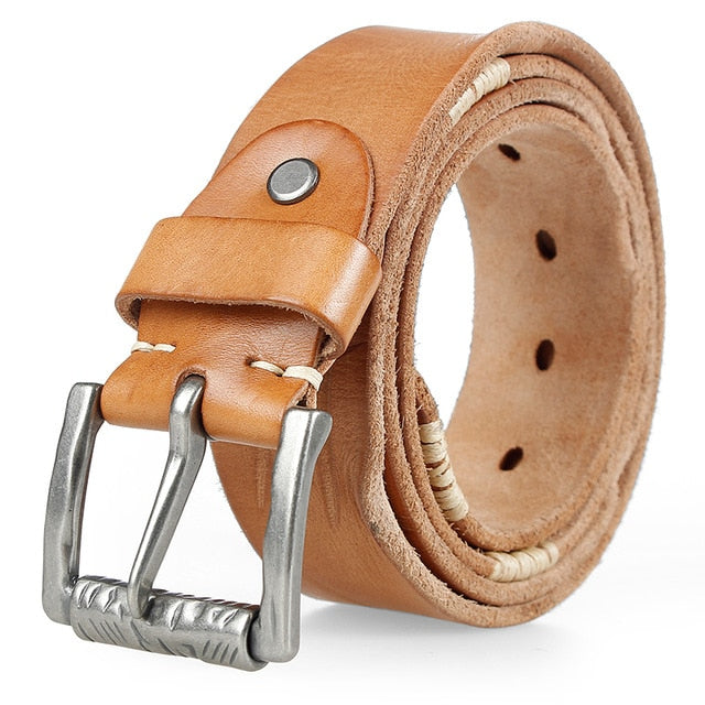JIFANPAUL Alloy Pin Belt - Camel / 125CM 47to49inch - HIS.BOUTIQUE