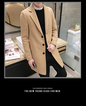 Woven Mac Coat -  - HIS.BOUTIQUE