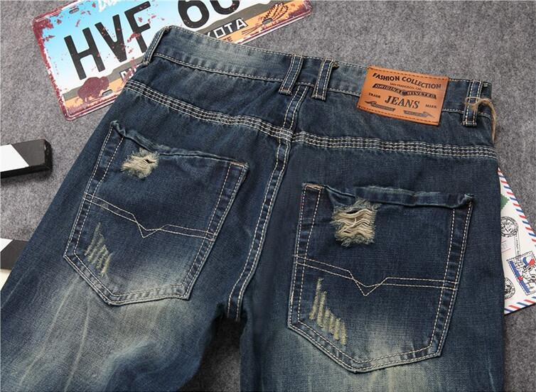 Metro Straight Destroyed Jeans -  - HIS.BOUTIQUE