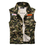 Camo Military Vest - Amy Green / XS- Vest -HIS.BOUTIQUE