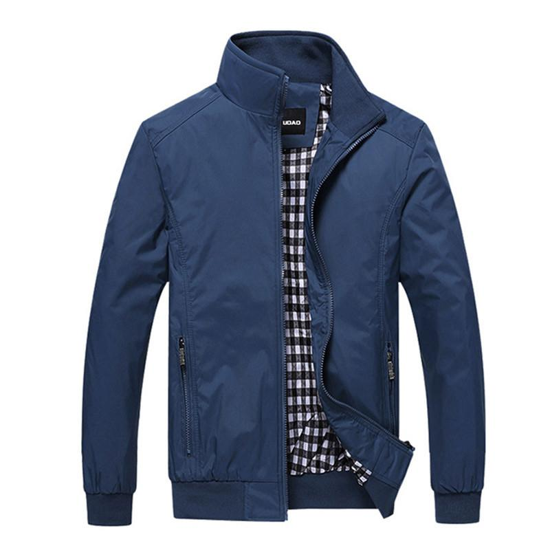 College Men Zipper Jacket - blue / XS - HIS.BOUTIQUE