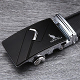 Stylo Leather Belt - SV 1428S / 110cm / Black- Belt -HIS.BOUTIQUE