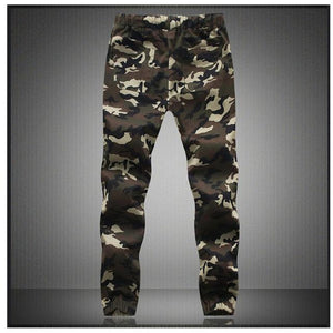 Men Crotch Camouflage Pants - Green / XS - HIS.BOUTIQUE