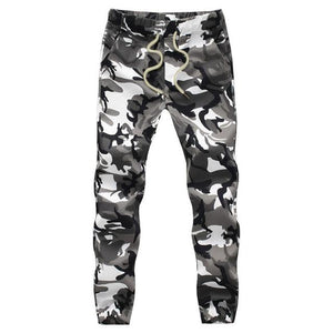 Men Crotch Camouflage Pants - White / XS - HIS.BOUTIQUE