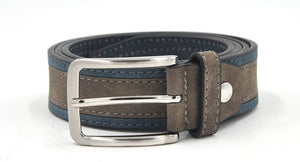 Casual Patchwork Belt - LightBrownNavy / 100cm - HIS.BOUTIQUE