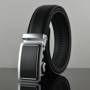 Futuristic Leather Belt - A / 110cm / Black - HIS.BOUTIQUE