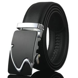 Futuristic Leather Belt - B / 110cm / Black - HIS.BOUTIQUE