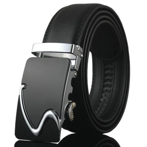 Futuristic Leather Belt - B / 110cm / Black- Belt -HIS.BOUTIQUE