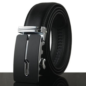 Futuristic Leather Belt - C / 110cm / Black - HIS.BOUTIQUE