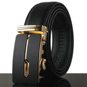 Futuristic Leather Belt - D / 110cm / Black - HIS.BOUTIQUE