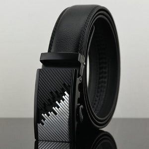 Futuristic Leather Belt - E / 110cm / Black - HIS.BOUTIQUE