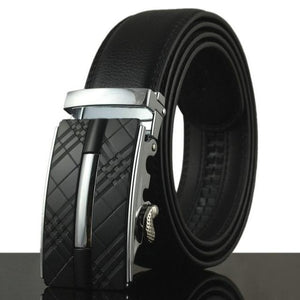 Futuristic Leather Belt - F / 110cm / Black - HIS.BOUTIQUE