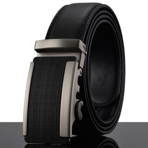 Futuristic Leather Belt - H / 110cm / Black - HIS.BOUTIQUE