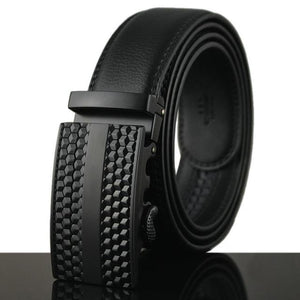 Futuristic Leather Belt - L / 110cm / Black - HIS.BOUTIQUE