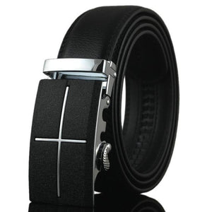 Futuristic Leather Belt - M / 110cm / Black - HIS.BOUTIQUE