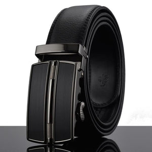 Futuristic Leather Belt - Q / 110cm / Black - HIS.BOUTIQUE