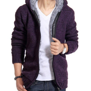 Persuader Hooded Cardigan - Purple / XS - HIS.BOUTIQUE