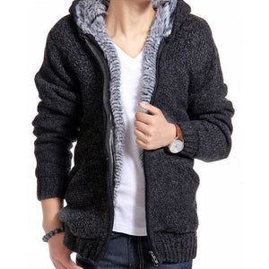 Persuader Hooded Cardigan - Black / XS - HIS.BOUTIQUE