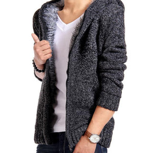 Persuader Hooded Cardigan - Drak Gray / XS - HIS.BOUTIQUE