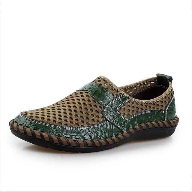 Mesh Bonded Casual Shoe - Dark green / 6.5- Footwear -HIS.BOUTIQUE
