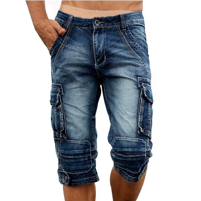 Cargo Short Jeans - Blue 1 / 29- Pants -HIS.BOUTIQUE