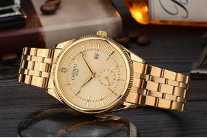 CHENXI Gold Watch - Golden Dial - HIS.BOUTIQUE